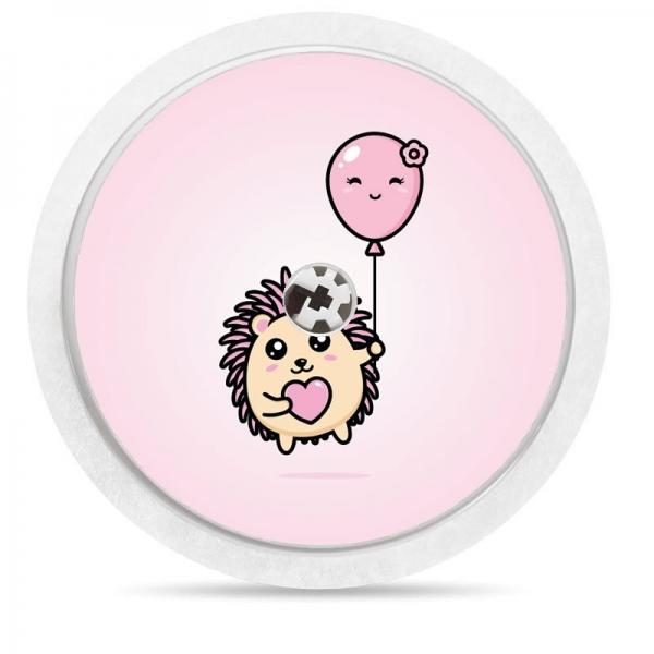 Pegatina Sticker para Freestyle Libre® - Erizo con globo [36]