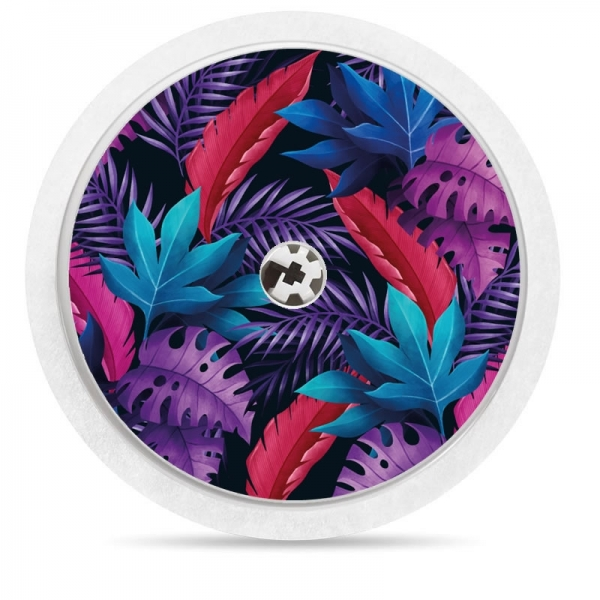 Pegatina Sticker para Freestyle Libre® - Pattern flores de colores [47]