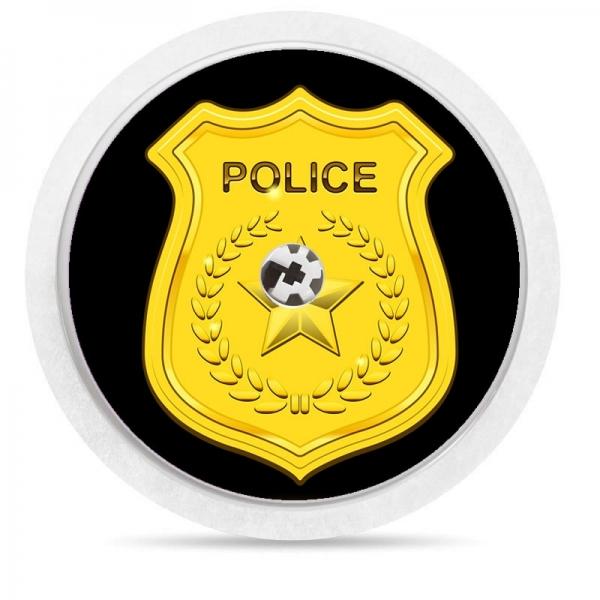 Pegatina Sticker para Freestyle Libre® - Placa policia [60]