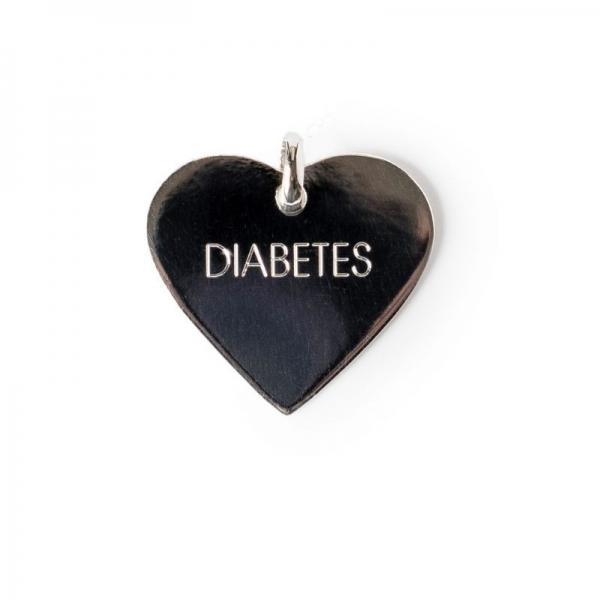 Colgante Plata Corazón Diabetes - IKOOKI