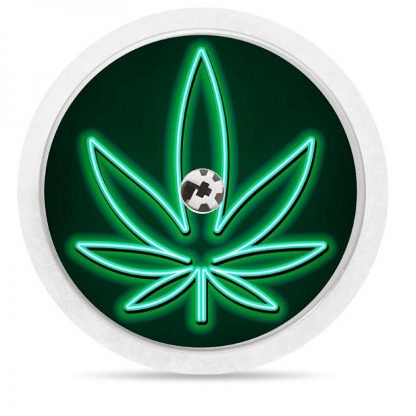 Pegatina Sticker para Freestyle Libre® - Neón Marihuana [77]