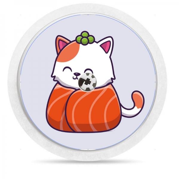 Pegatina Sticker para Freestyle Libre® - Gatito Sushi [87]