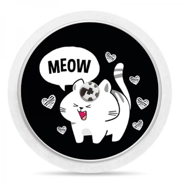 Pegatina Sticker para Freestyle Libre® - Meow Gatito [07]