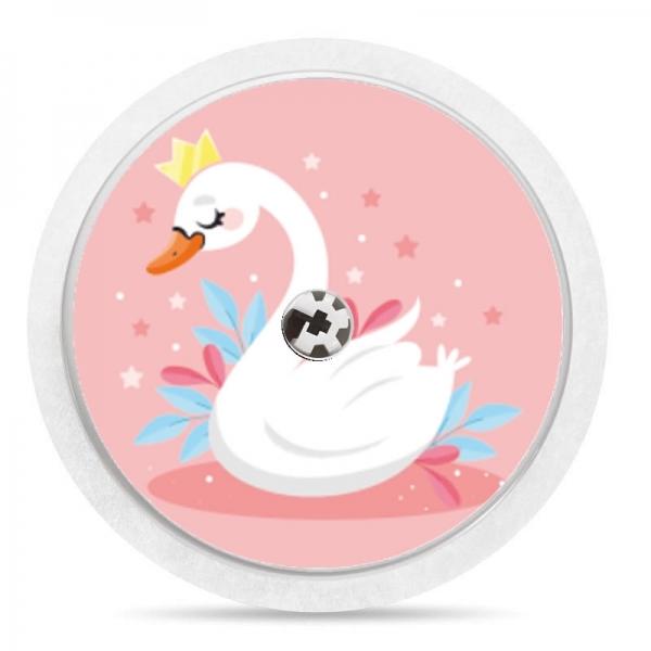 Pegatina Sticker para Freestyle Libre® - Cisne Rosa [03]