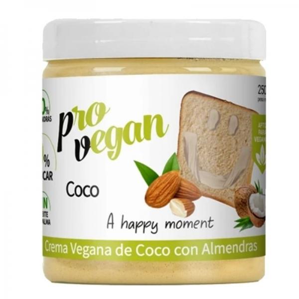 Crema de Coco con Almendras Vegana - Protella