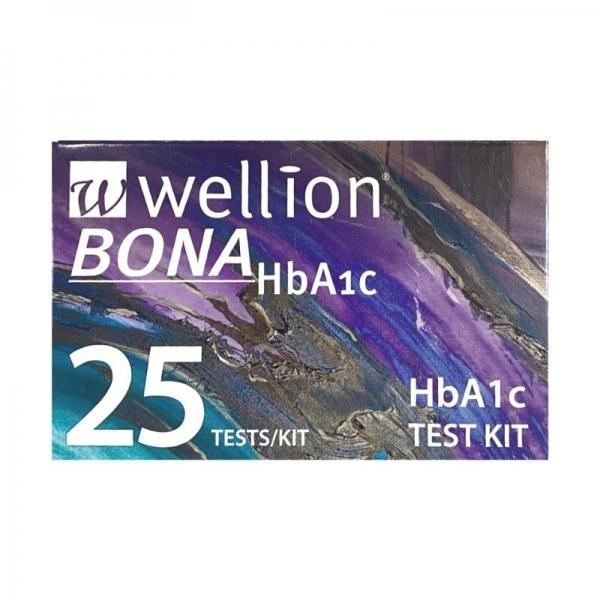 25 Test Kit HbA1c - Wellion Bona