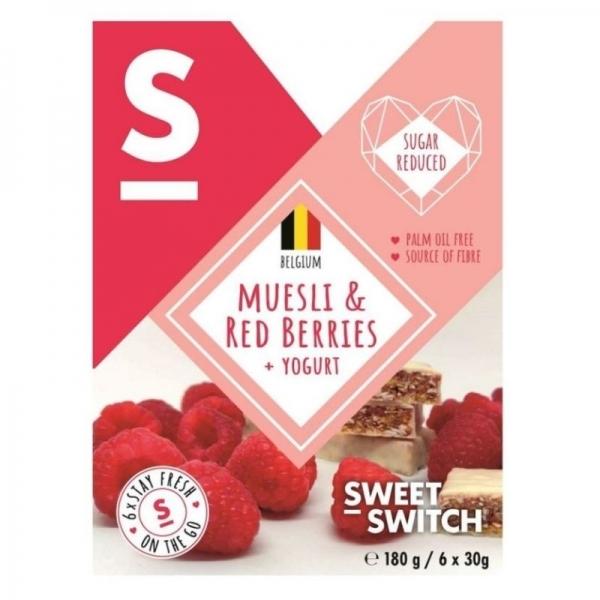 Barritas Muesli Frambuesa y Yogurt - Sweet Switch (6 unidades)
