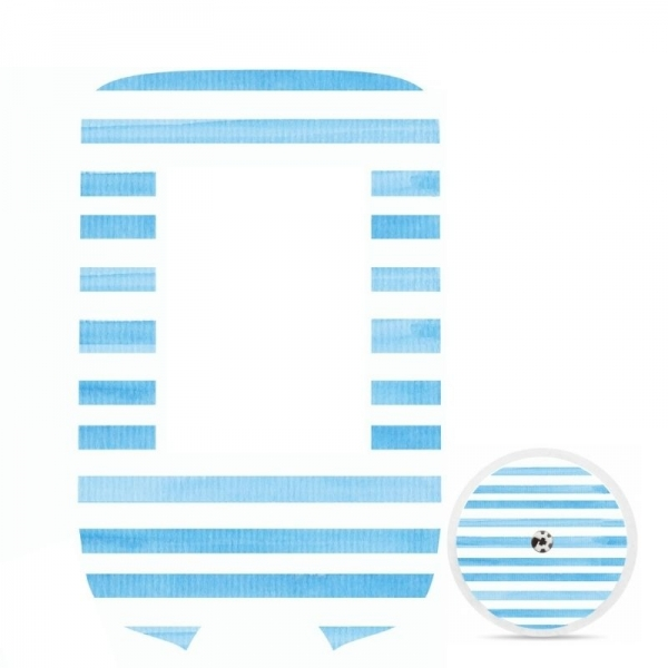 Adesivo de Glucometer Livre Freestyle® - Listras azuis [321]