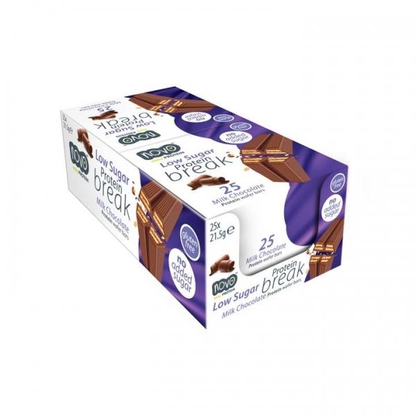 Novo Nutrition - Barquillo Chocolate con leche (Caja 25 unidades)