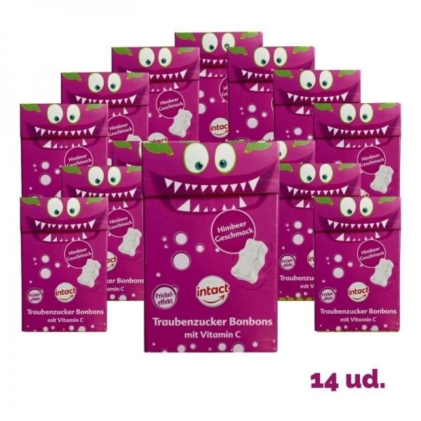 Intact - Pack Cajitas Ositos Raspberry (14 unidades)