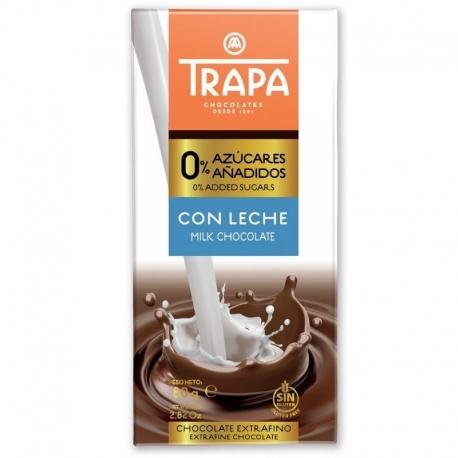 Chocolate con leche  0% azucares - Trapa
