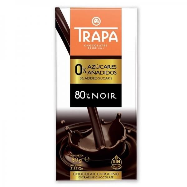 Chocolate 80% negro 0% azucares - Trapa