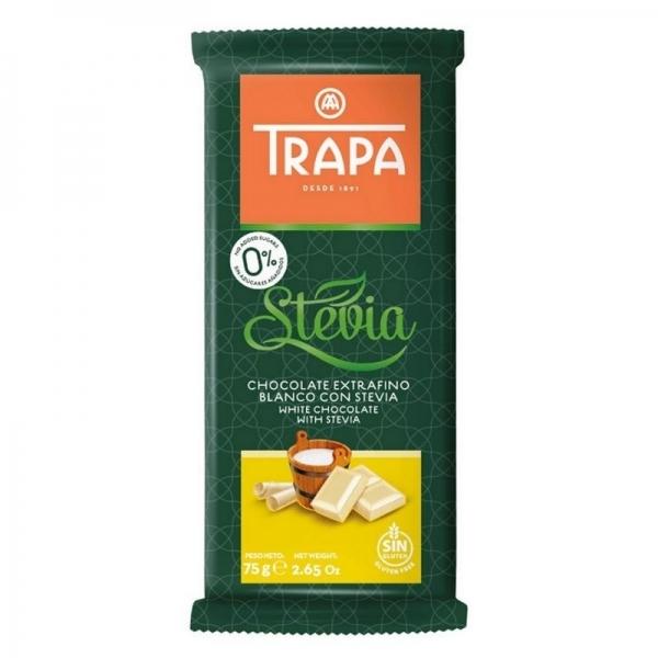 Chocolate Trapa 0% azucares  - Chocolate blanco con stevia