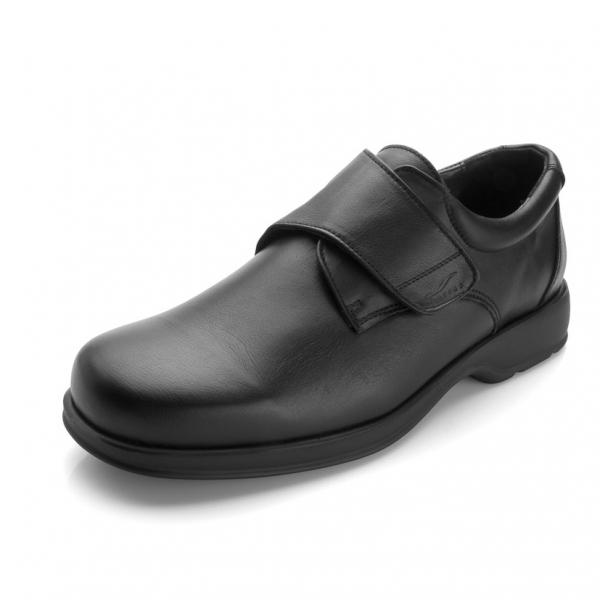 Sapato Diabcare Abel Black Velcro