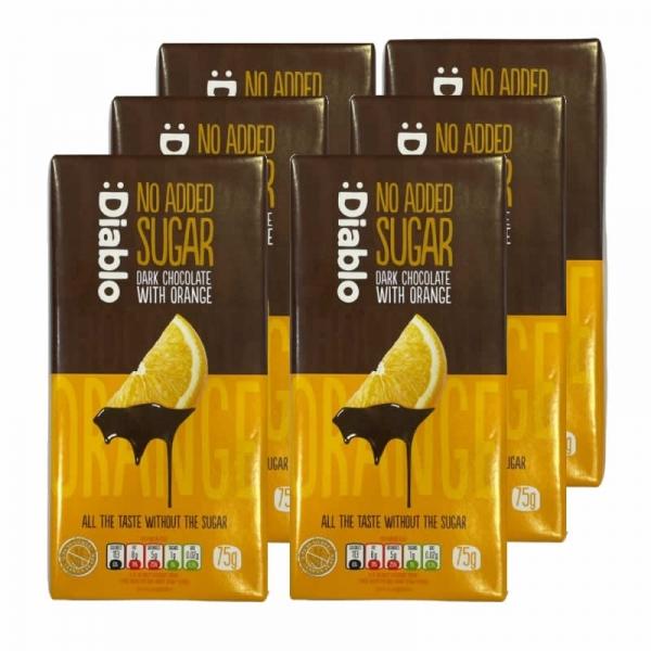 :Diablo - Pack Chocolate Negro con Naranja  (x6 tabletas)