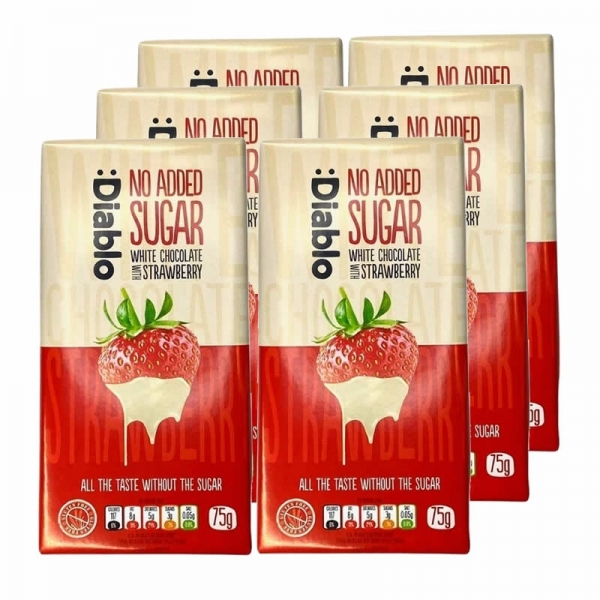 :Diablo - Pack Chocolate Blanco con Fresas (x6 tabletas)