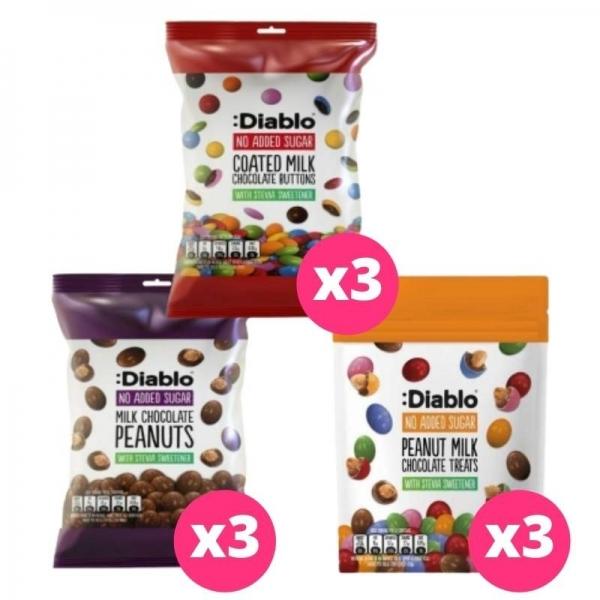 :Diablo - Pack Pastillas Chocolate (9 paquetes)