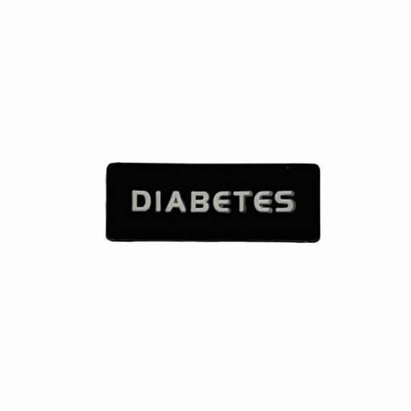 Identificador Diabetes para reloj Negro