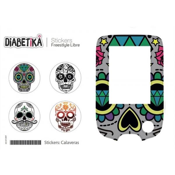 Stickers Libre Glucometro - Calaveras