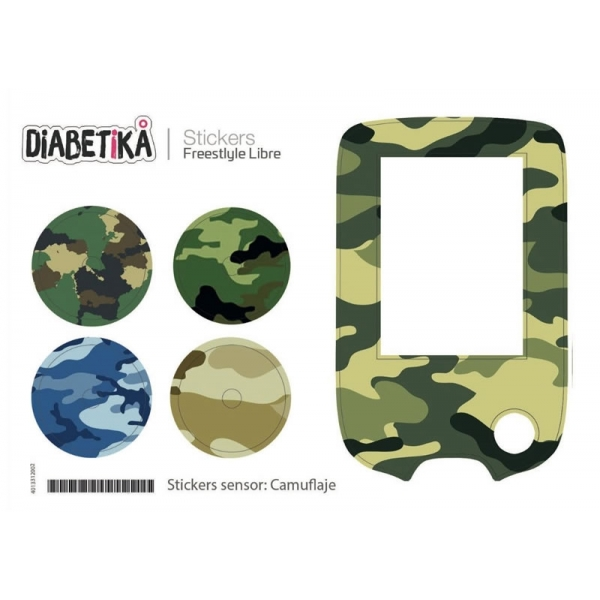 Stickers Libre Glucometro - Camuflaje